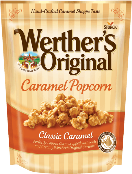 $1.50 for Werther's® Original® Caramel Popcorn (expiring on Saturday, 03/31/2018). Offer available at multiple stores.