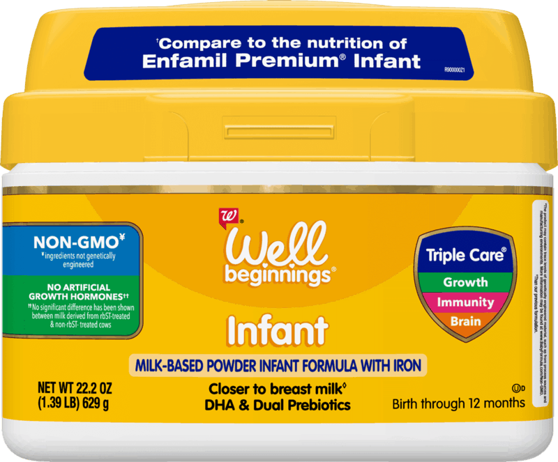 $4.00 for Well Beginnings Infant Formula (expiring on Monday, 05/31/2021). Offer available at Walgreens.