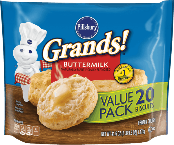 $0.50 for Pillsbury™ Grands!™ Frozen Biscuits (expiring on Sunday, 09/02/2018). Offer available at WinCo Foods.