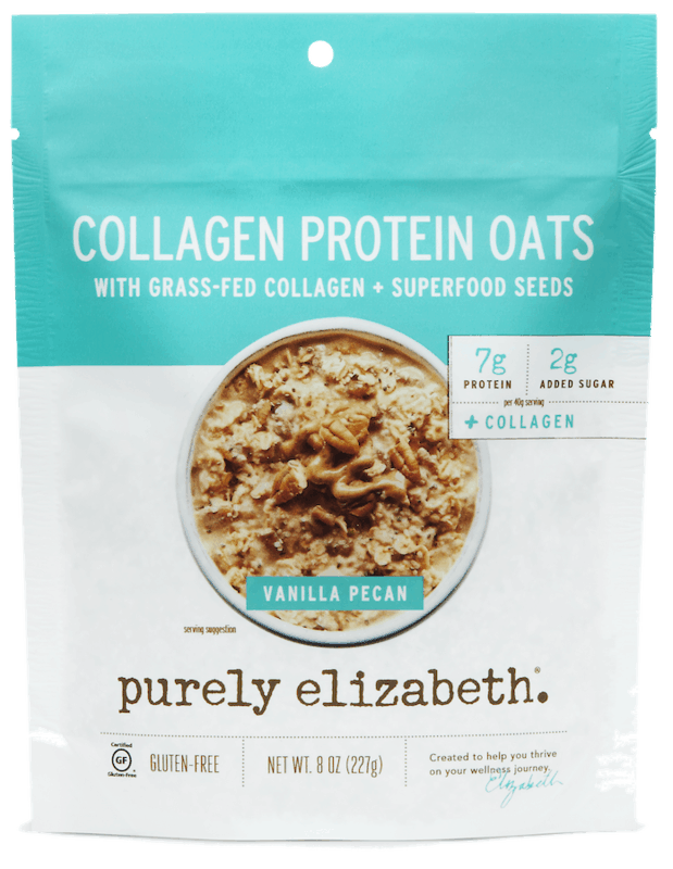 $1.00 for Purely Elizabeth Collagen Protein Oat Pouches (expiring on Wednesday, 03/31/2021). Offer available at Walmart, Walmart Grocery.