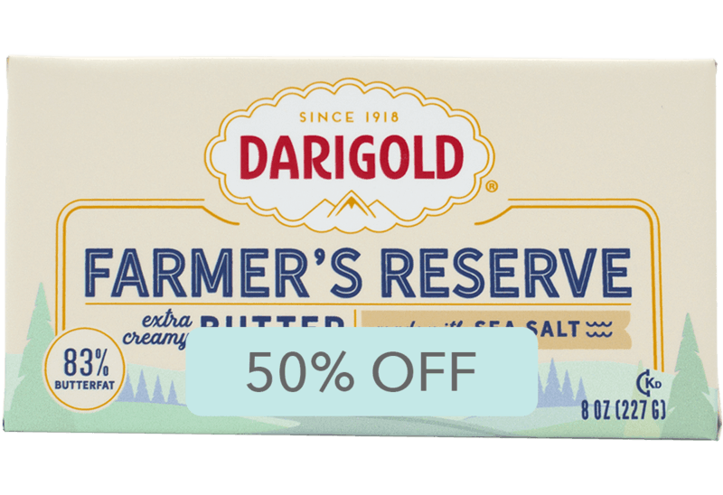 $1.42 for Darigold Farmer's Reserve Butter (expiring on Saturday, 05/09/2020). Offer available at Safeway, Kroger, Fred Meyer, QFC, Albertsons.