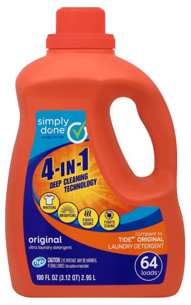 $2.50 for Simply Done™ Laundry Detergent (expiring on Monday, 07/02/2018). Offer available at Food City.