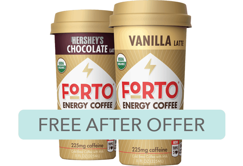 $2.69 for Forto® Energy Coffee. Offer available at Target.