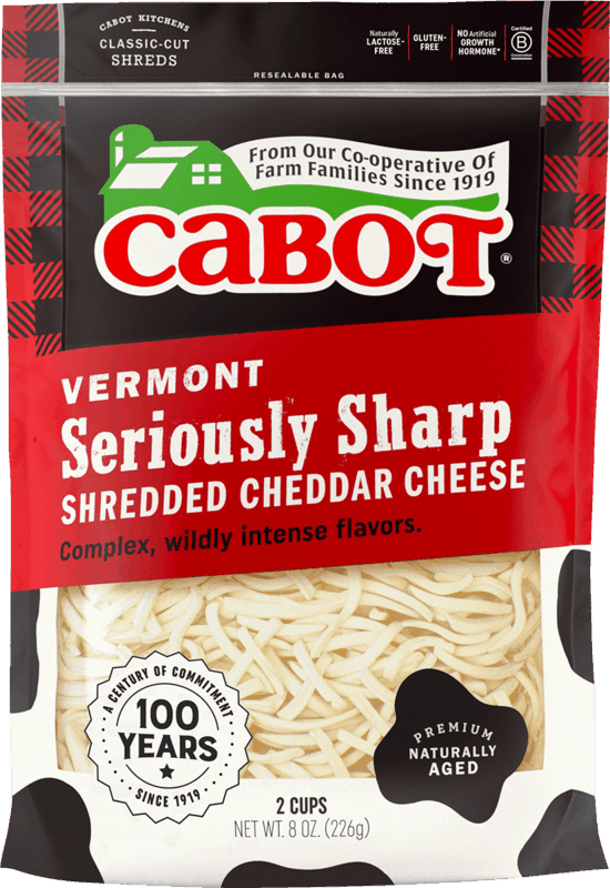 $0.50 for Cabot Creamery Shredded Cheese (expiring on Sunday, 08/15/2021). Offer available at ShopRite.