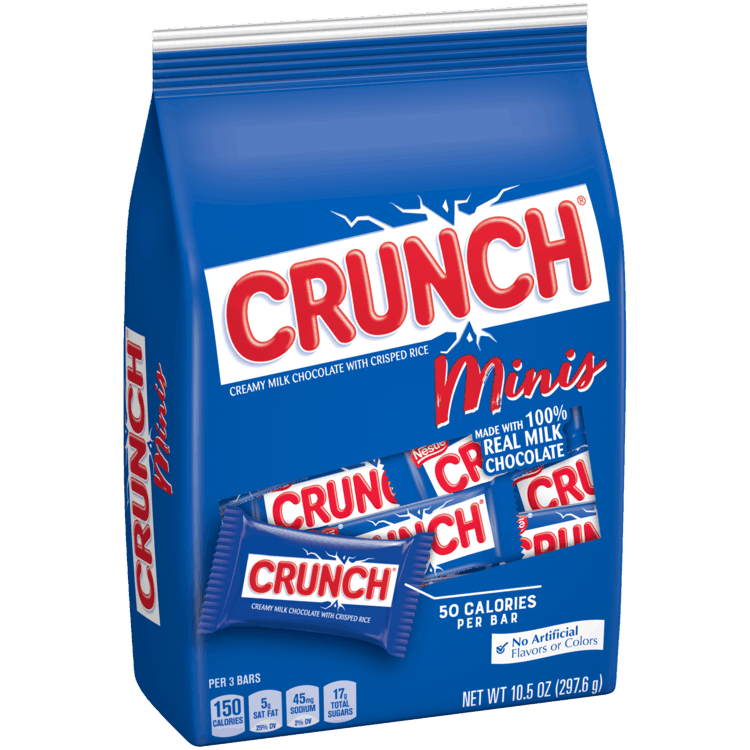 $1.00 for Crunch Minis, 10.5oz (expiring on Sunday, 08/02/2020). Offer available at Safeway, Walmart, Albertsons.