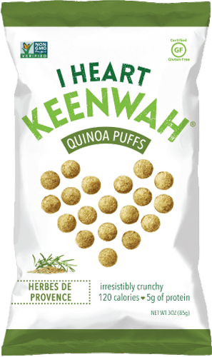 $0.50 for I Heart Keenwah® Quinoa Puffs. Offer available at multiple stores.