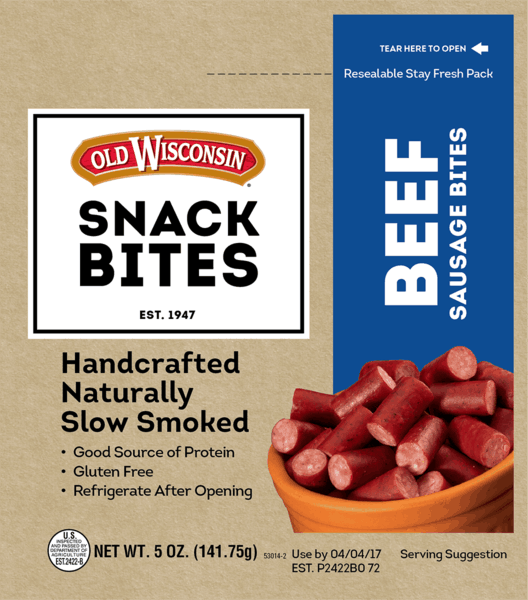 $0.50 for Old Wisconsin® Snack Bites (expiring on Saturday, 06/02/2018). Offer available at Walmart.