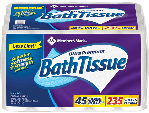 $3.00 for Member's Mark™ Bath Tissue (expiring on Monday, 12/02/2019). Offer available at Sam's Club.