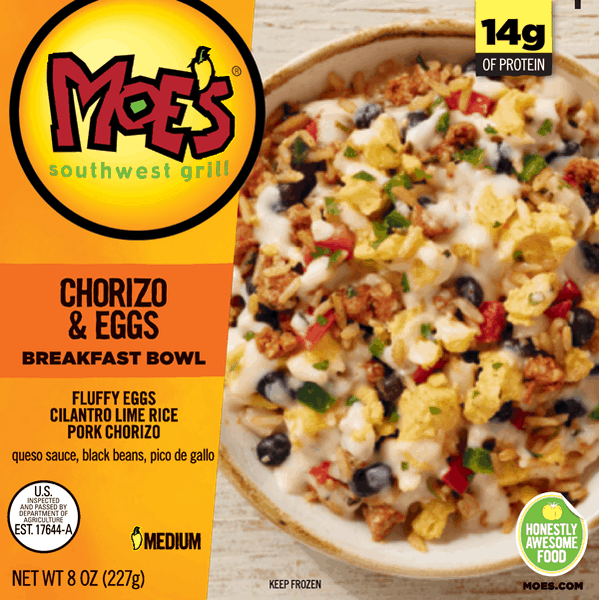 $1.00 for Moe's® Breakfast Bowls (expiring on Friday, 03/02/2018). Offer available at Walmart.