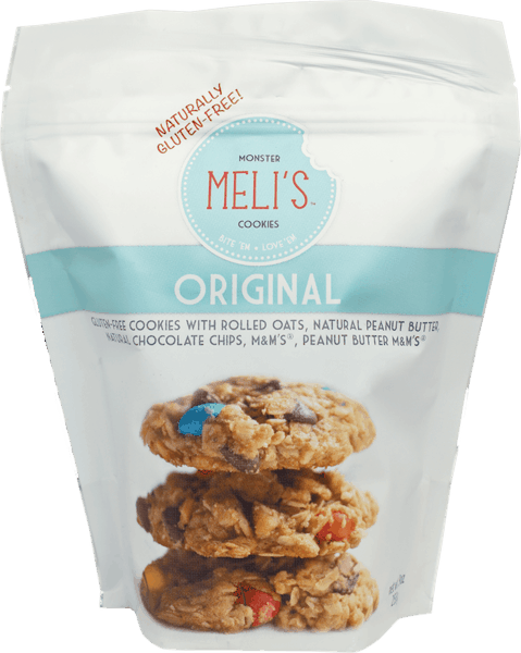 $1.00 for Meli's™ Monster Pre-Baked Cookies (expiring on Wednesday, 07/04/2018). Offer available at Walmart, H-E-B, United Supermarkets, Market Street.