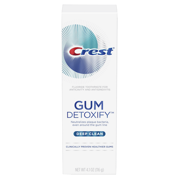 $0.25 for Crest® Gum Detoxify™ Toothpaste (expiring on Wednesday, 10/02/2019). Offer available at multiple stores.