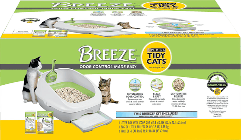 $5.00 for Purina Tidy Cats Breeze Cat Litter System (expiring on Monday, 08/31/2020). Offer available at Meijer, H-E-B, PetSmart.