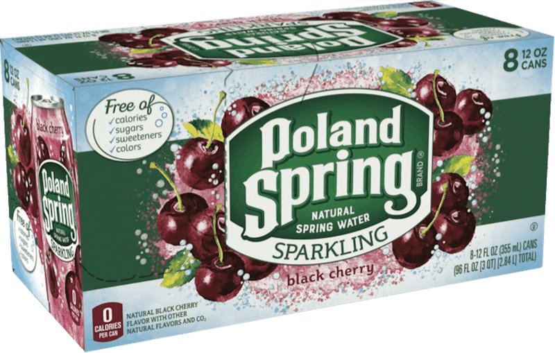 $1.00 for POLAND SPRING® Brand Sparkling Natural Spring Water. Offer available at Walmart.