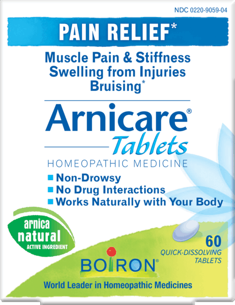 $2.00 for Boiron® Arnicare® Tablets (expiring on Wednesday, 08/01/2018). Offer available at Target, Raley's.