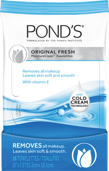 $1.50 for Pond's® Moisture Clean™ Towelettes. Offer available at Target, Walmart, Walgreens, CVS Pharmacy.