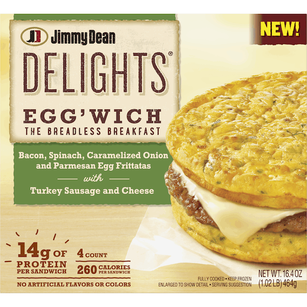 $0.75 for Jimmy Dean Delights® Egg'wich (expiring on Thursday, 05/02/2019). Offer available at Walmart.