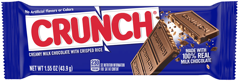 $0.25 for Crunch Single Bar or Share Pack (expiring on Tuesday, 11/10/2020). Offer available at Walmart, Walmart Grocery.