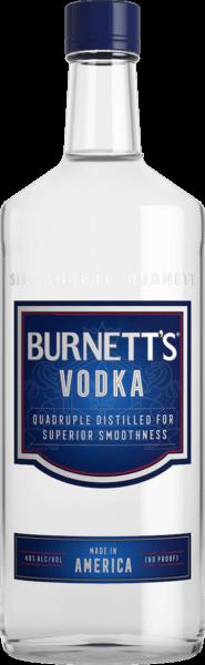 $1.00 for Burnett's (expiring on Sunday, 09/02/2018). Offer available at multiple stores.
