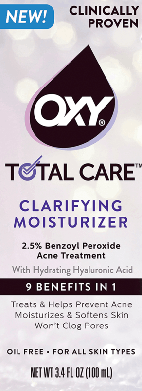 $3.00 for OXY Total Care Anti-Acne Clarifying Moisturizer. Offer available at multiple stores.