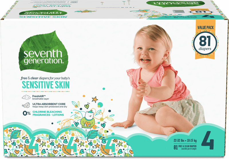 $4.50 for Seventh Generation™ Diapers (expiring on Sunday, 02/02/2020). Offer available at Walmart, H-E-B, Hannaford.