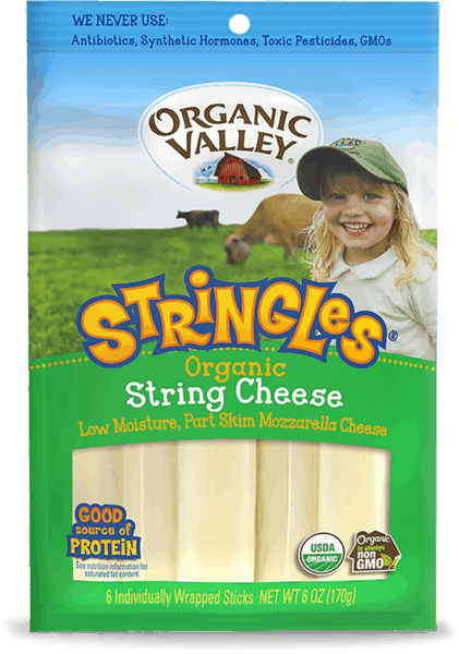 $2.00 for Organic Valley® Stringles String Cheese (expiring on Monday, 12/31/2018). Offer available at multiple stores.