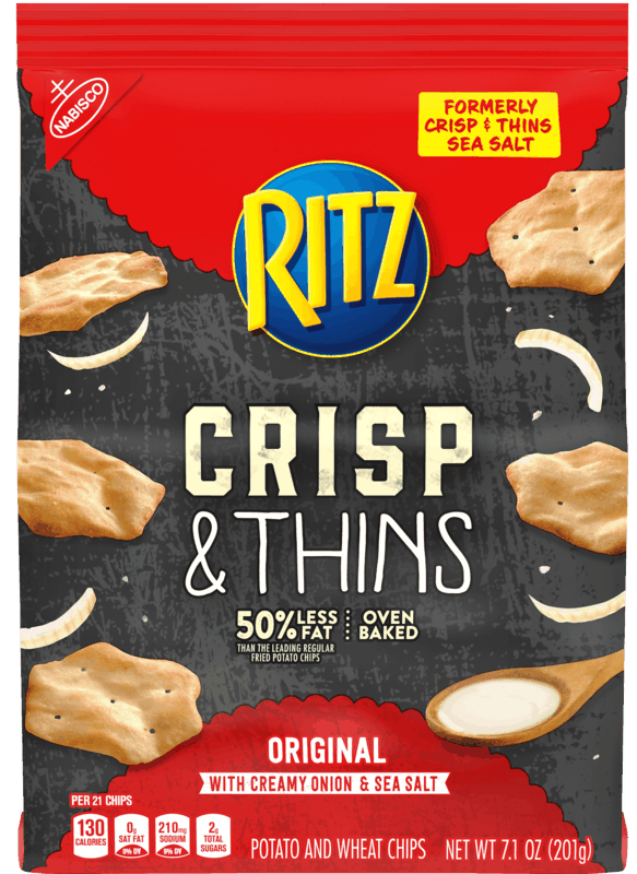 $1.00 for RITZ Crisp & Thins (expiring on Thursday, 07/02/2020). Offer available at Walmart.
