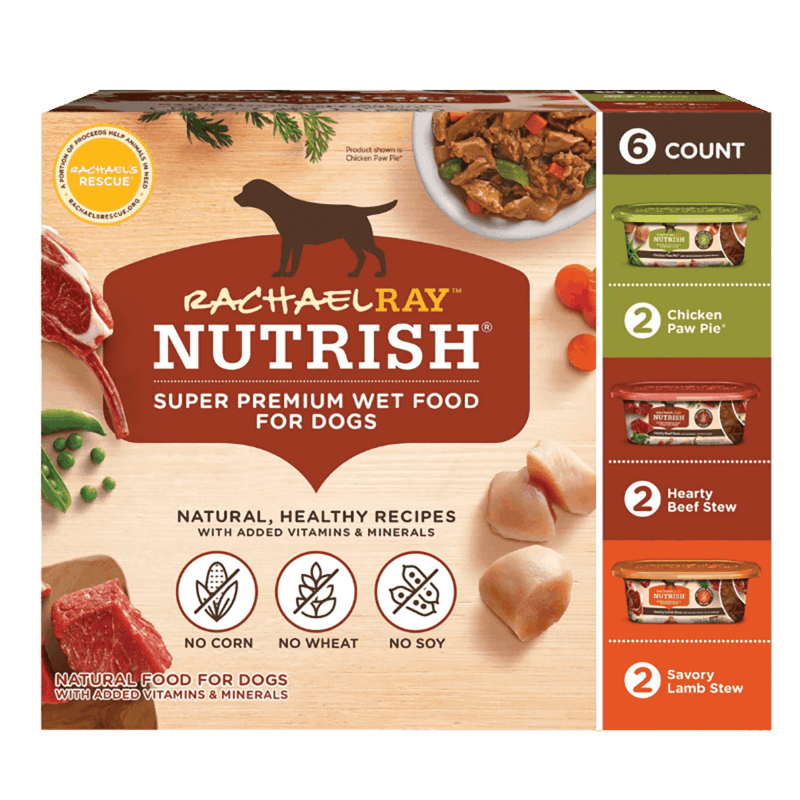 $1.50 for Rachael Ray Nutrish Dog or Dish Wet Dog Food Variety Pack (expiring on Sunday, 04/12/2020). Offer available at multiple stores.