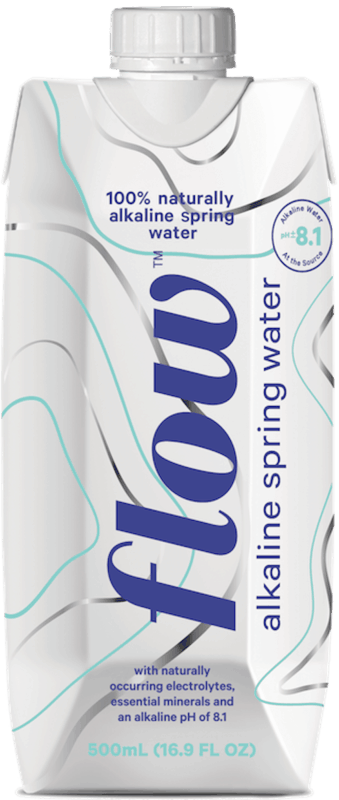 $0.25 for Flow Alkaline Spring Water (expiring on Thursday, 12/31/2020). Offer available at multiple stores.