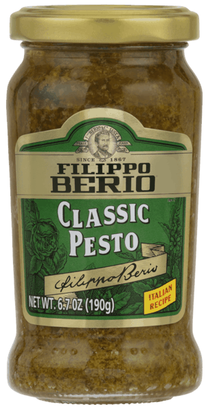 $1.50 for Filippo Berio® Pesto (expiring on Sunday, 09/02/2018). Offer available at multiple stores.