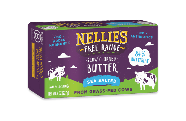 $1.00 for Nellie's Free Range Butter (expiring on Friday, 04/30/2021). Offer available at multiple stores.