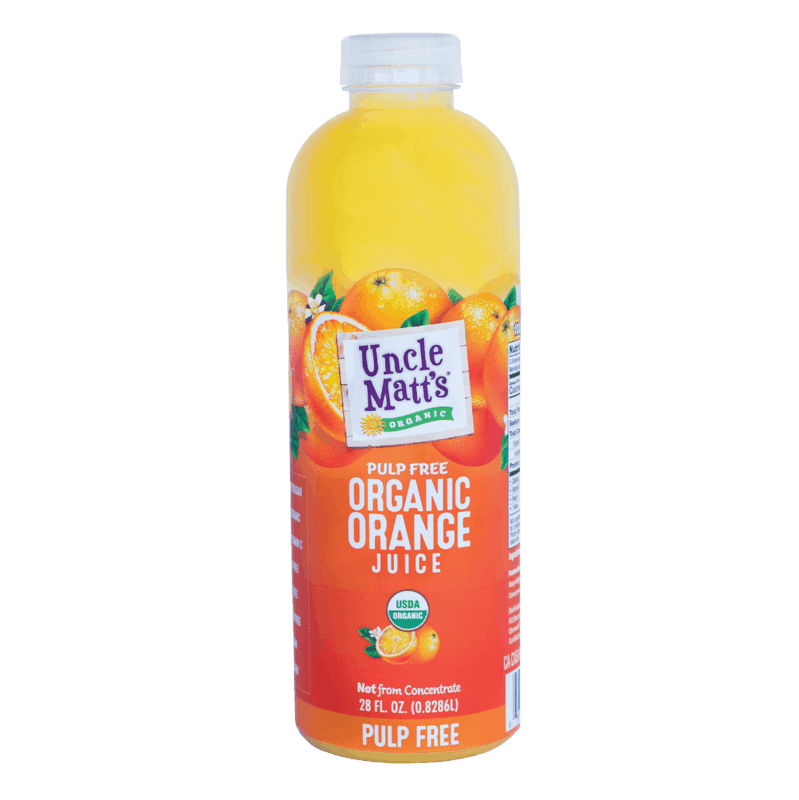 $1.00 for Uncle Matt's® Organic Juices (expiring on Monday, 09/02/2019). Offer available at Giant Eagle, Harris Teeter.