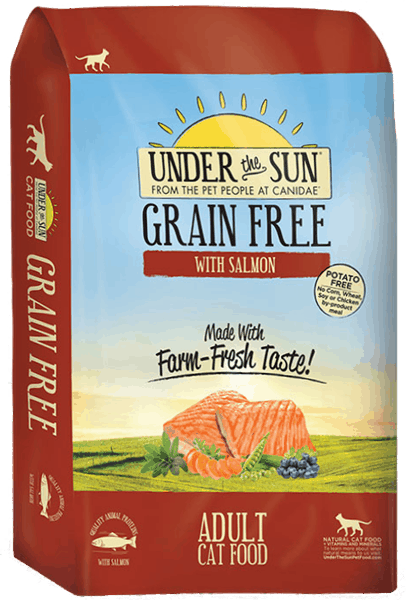 $5.00 for CANIDAE® Under The Sun® Grain Free Adult Cat Food (expiring on Monday, 04/02/2018). Offer available at Petco.