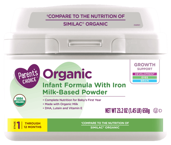$2.00 for Parent's Choice™ Organic Formula (expiring on Thursday, 05/02/2019). Offer available at Walmart.
