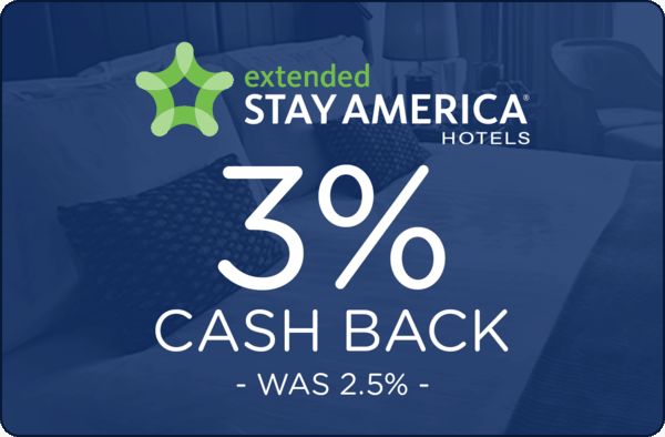 $0.00 for Extended Stay America. Offer available at Extended Stay America.