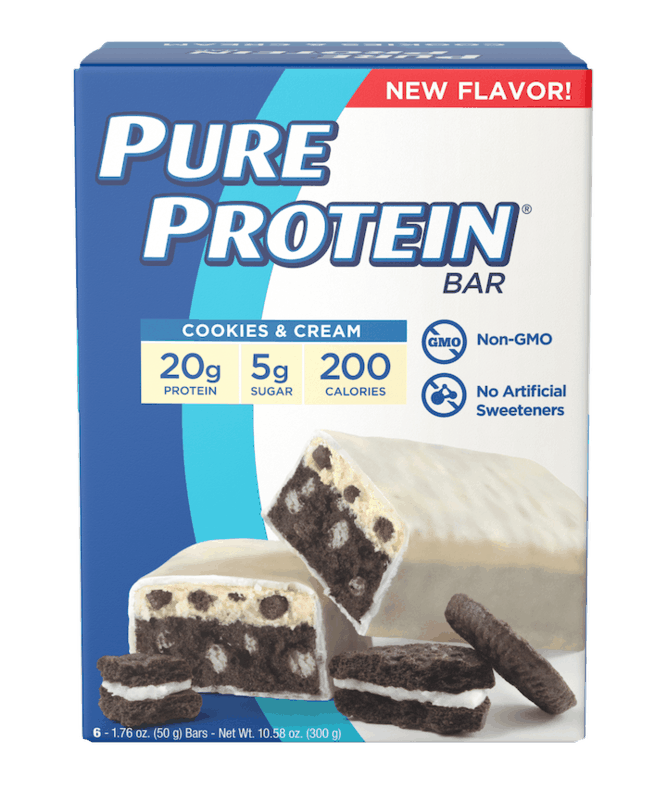 $1.00 for Pure Protein Value Pack Bars. Offer available at Walmart, Walmart Pickup & Delivery.