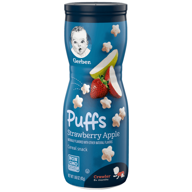 $0.75 for Gerber Puffs (expiring on Wednesday, 03/31/2021). Offer available at Walmart, Walmart Grocery.
