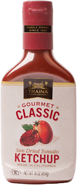 $1.00 for Traina® Sun Dried Tomato Ketchup (expiring on Sunday, 09/30/2018). Offer available at Publix.