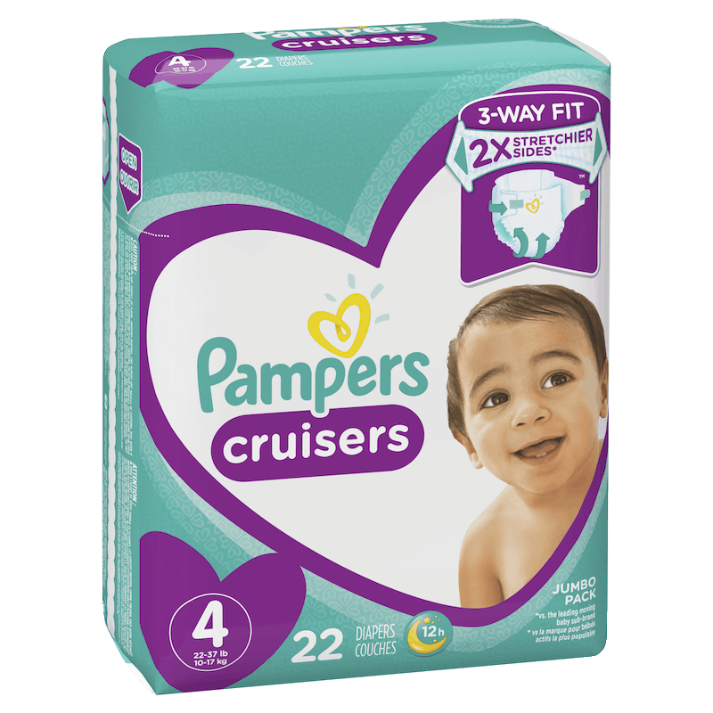 $3.00 for Pampers® Cruisers. Offer available at multiple stores.