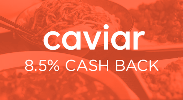 $0.00 for Caviar (expiring on Monday, 12/31/2018). Offer available at Caviar.