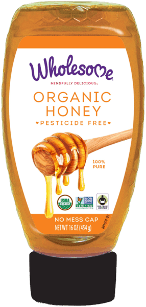 $1.00 for Wholesome™ Organic Honey (expiring on Tuesday, 10/02/2018). Offer available at multiple stores.