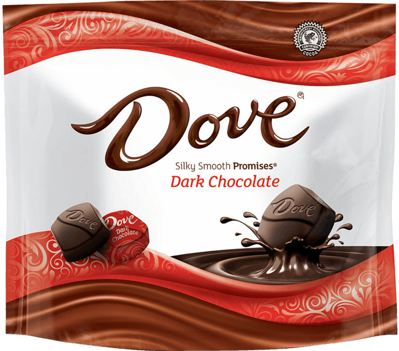 $0.25 for DOVE® Promises Silky Smooth Dark Chocolate (expiring on Tuesday, 08/24/2021). Offer available at multiple stores.