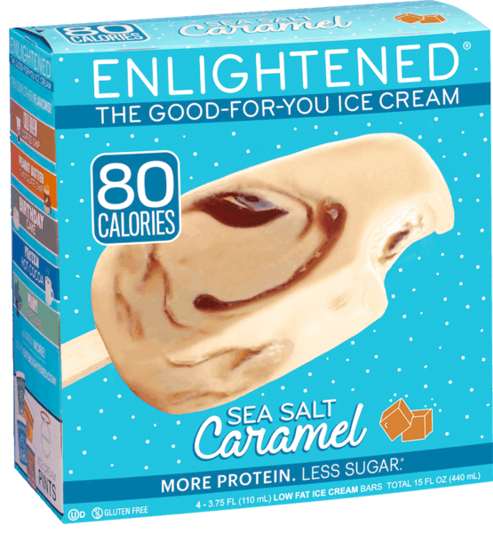 $1.00 for ENLIGHTENED® The Good-For-You Ice Cream™ Bars. Offer available at multiple stores.