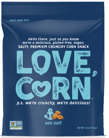 $1.00 for Love Corn® Premium Crunchy Corn (expiring on Saturday, 10/31/2020). Offer available at multiple stores.