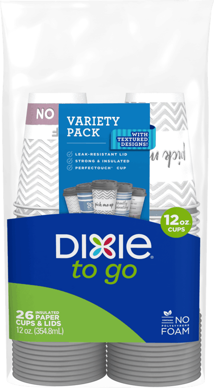 $1.25 for Dixie To Go Paper Cups (expiring on Saturday, 10/31/2020). Offer available at Walmart, Walmart Grocery.