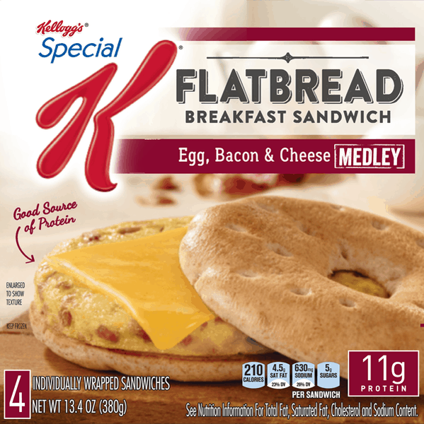 $2.00 for Special K® Flatbread Breakfast Sandwiches (expiring on Wednesday, 03/01/2017). Offer available at Walmart.