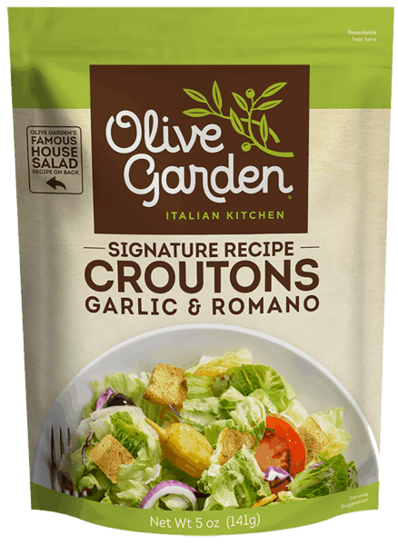 $0.25 for Olive Garden® Signature Recipe Seasoned Croutons (expiring on Friday, 08/31/2018). Offer available at multiple stores.