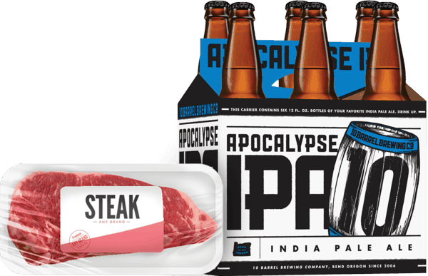 $2.00 for 10 Barrel® AND Steak, Pork, Sausage or Brats (expiring on Wednesday, 05/09/2018). Offer available at multiple stores.