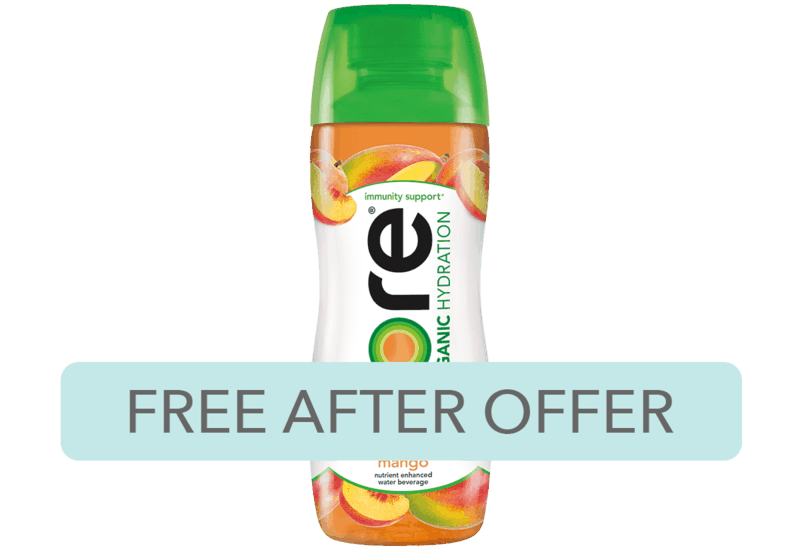 $2.50 for Core Organic Hydration (expiring on Tuesday, 06/30/2020). Offer available at multiple stores.
