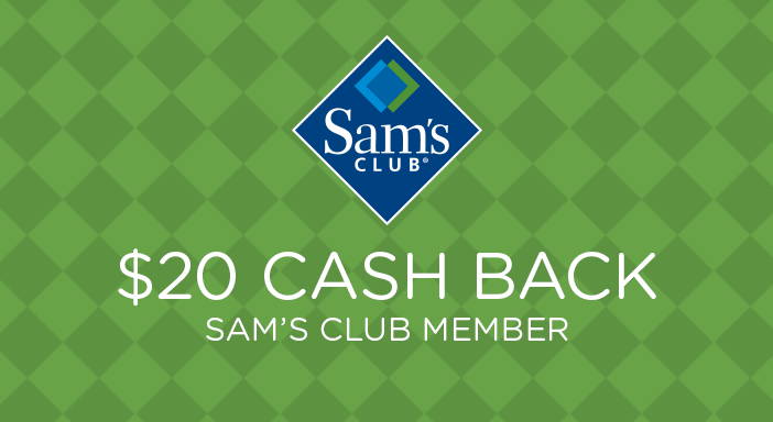 $20.00 for Buy New Sam's Club Membership, Earn $20. Offer available at Sam's Club Membership Offer.
