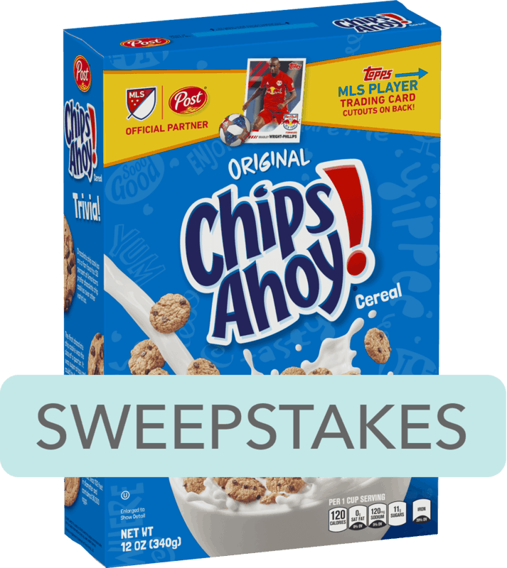 $0.25 for Post® CHIPS AHOY!® Flavored Cereal (expiring on Saturday, 02/08/2020). Offer available at Walmart.